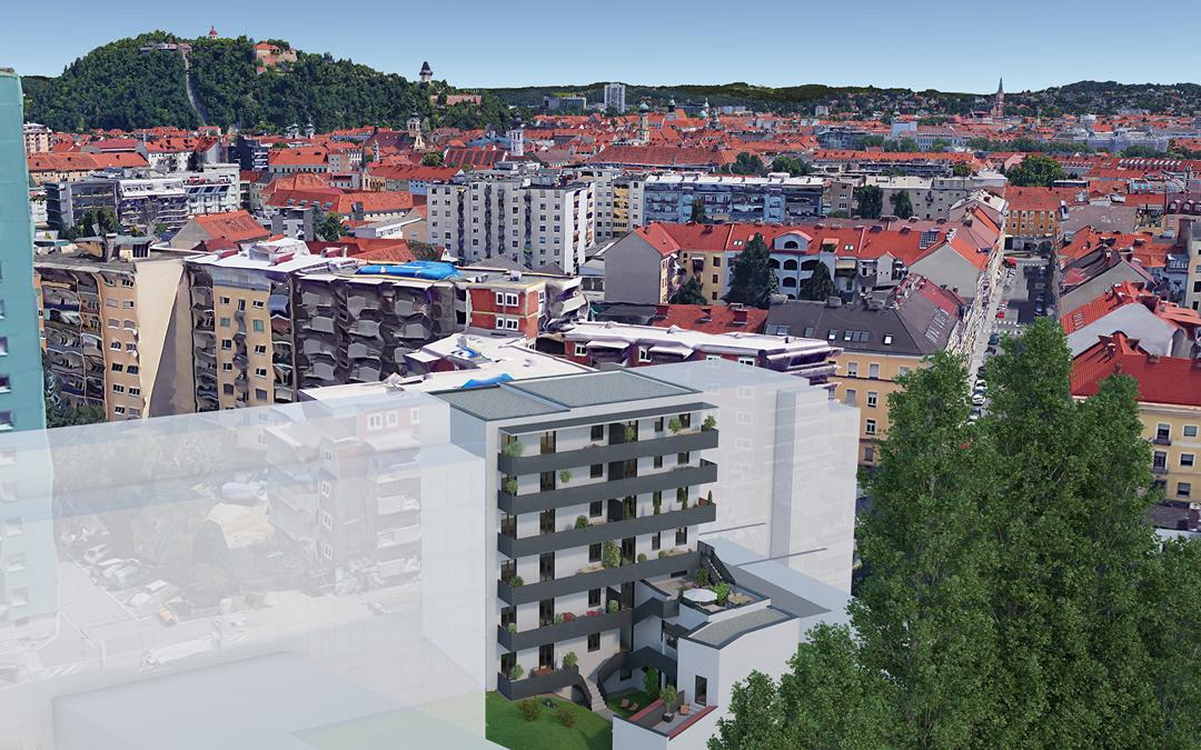 Wohnen mitten in Graz.